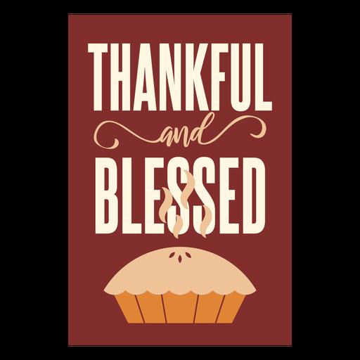 Torta de cartões de Ação de Graças quente