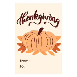 Thanksgiving cards pumpkin