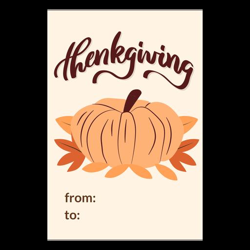 Thanksgiving cards pumpkin Transparent PNG