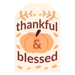 Thanksgiving cards thankful and blessed