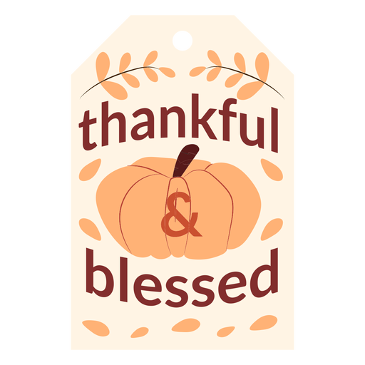 Thanksgiving cards thankful and blessed Transparent PNG