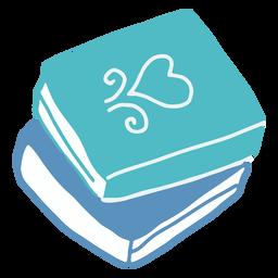 Libros de invierno azul planos