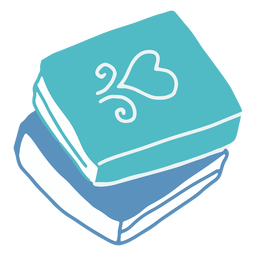 Livros de inverno azul planas