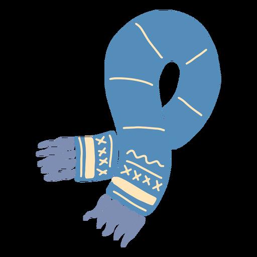 Bufanda azul invierno Transparent PNG