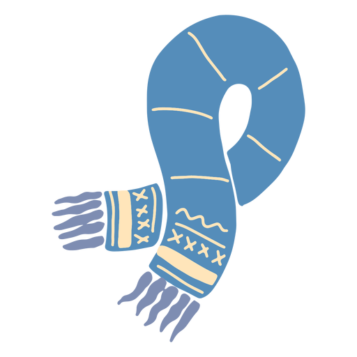 Winter blue scarf Transparent PNG