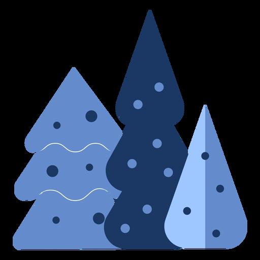 Winter blue trees flat