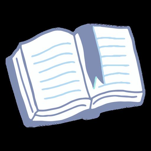 Libro de invierno plano Transparent PNG