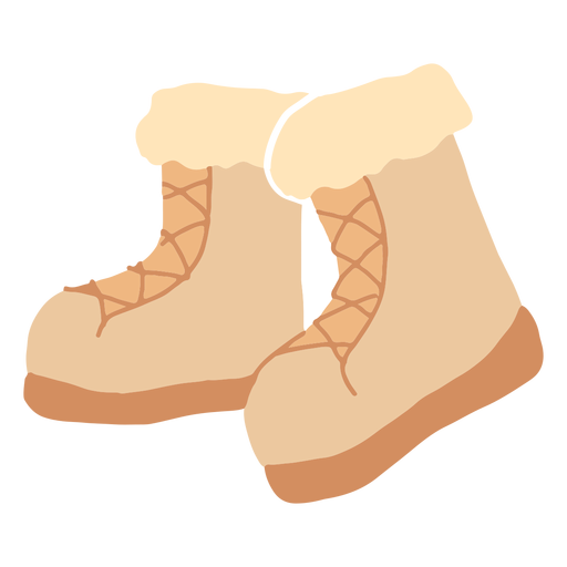 Winter boots flat Transparent PNG