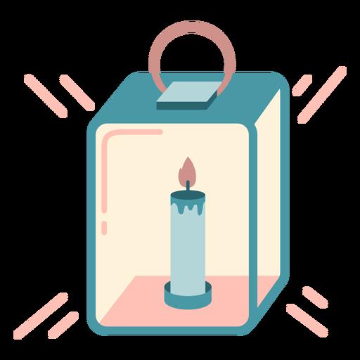 Winter candle lamp flat Transparent PNG