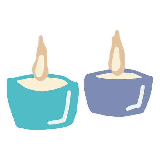 Winter candles flat Transparent PNG