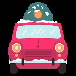 Winterauto Vorderansicht rot