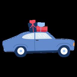 Winter car gifts flat