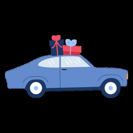 Winter car gifts flat Transparent PNG