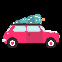 Inverno carro vista lateral vermelho inverno