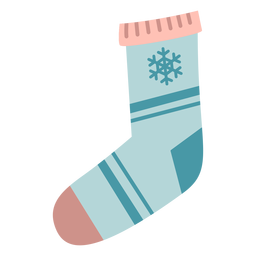Winter christmas sock flat