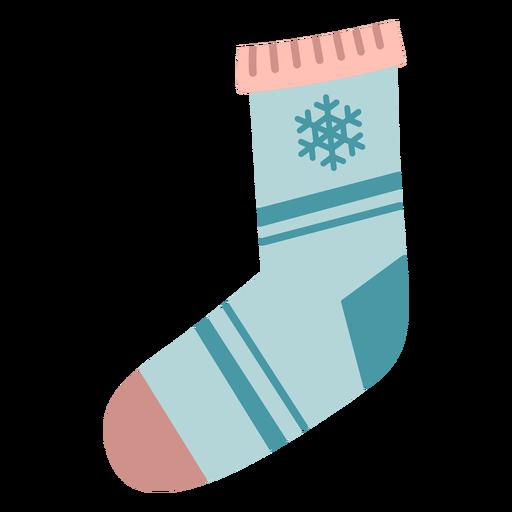 Calcetín de Navidad de invierno plano Transparent PNG