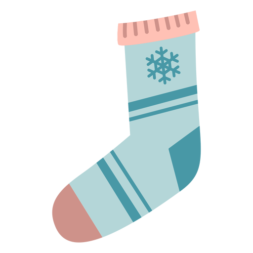 Calcetín navideño de invierno plano Transparent PNG