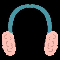 Protetor de orelha de inverno achatado