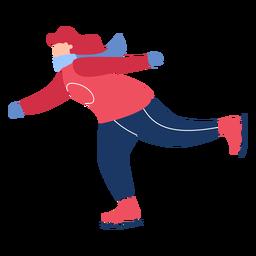 Invierno femenino patines de hielo plana