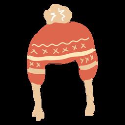 Sombrero de invierno plano