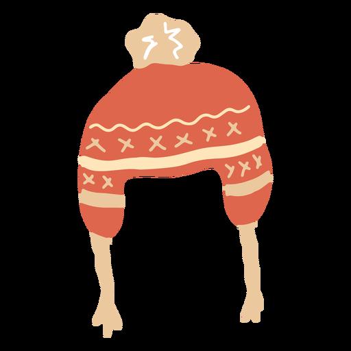 Sombrero de invierno plano Transparent PNG