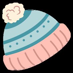 Ponpon de chapéu de inverno plana