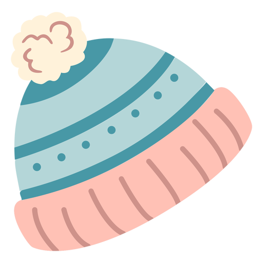 Sombrero de invierno ponpon plano