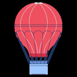 Balão de ar quente de inverno