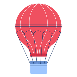 Winter hot air ballon flat