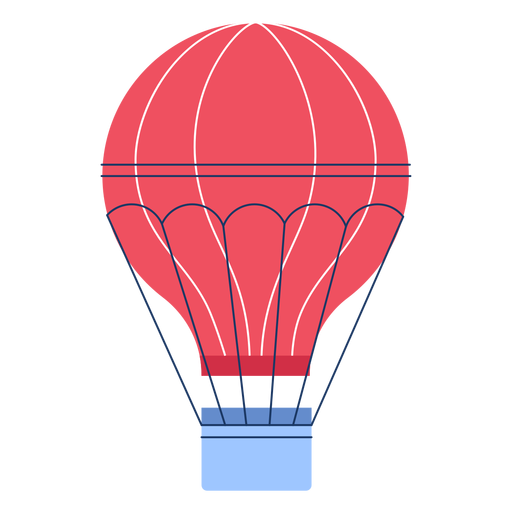 Winter hot air ballon flat Transparent PNG