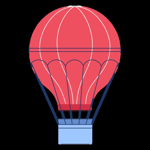 Winter hot air ballon flat