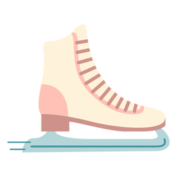 Winter ice skates flat