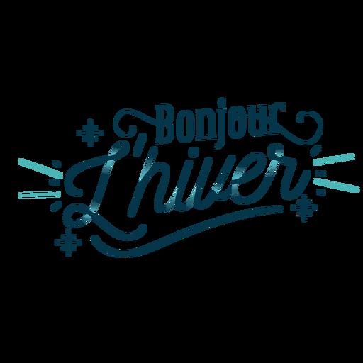 Winter lettering bonjour lhiver
