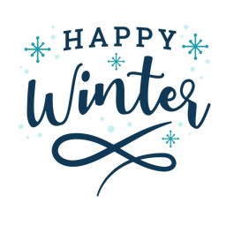 Inverno letras feliz inverno escuro