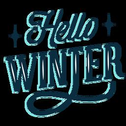 Winter Schriftzug Hallo Winter dunkel