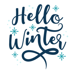 Winter lettering hello winter handwritten