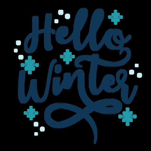 Winter lettering hello winter handwritten Transparent PNG