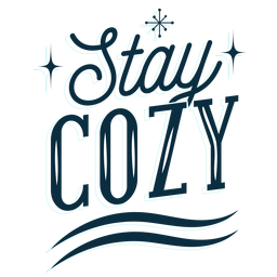 Winter lettering stay cozy dark
