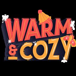 Letras de invierno cálido acogedor