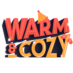 Winter lettering warm cozy