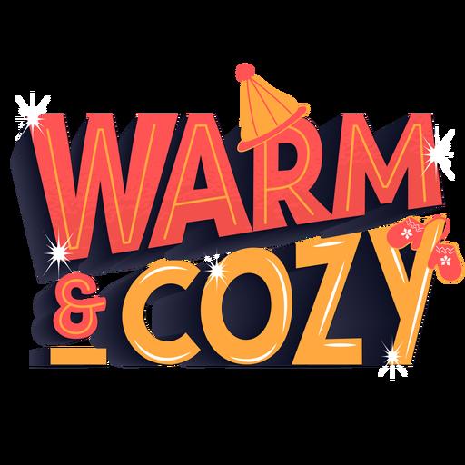 Winter lettering warm cozy