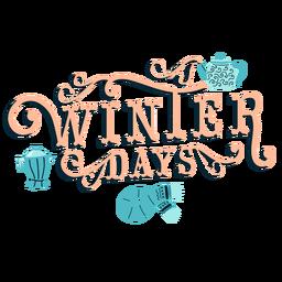 Rotulação de inverno dias de inverno