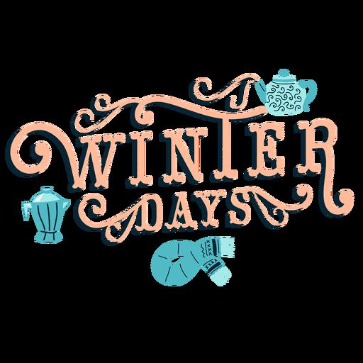Winter lettering winter days Transparent PNG