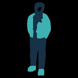 Personagem de jaqueta homem inverno