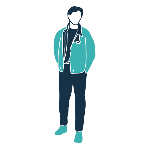 Winter man jacket character Transparent PNG
