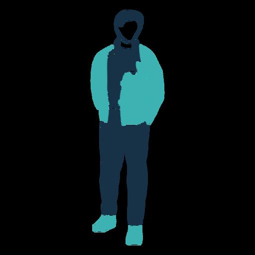 Winter man jacket character