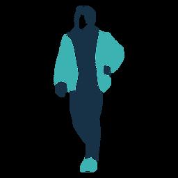 Personagem de três quartos de homem de inverno
