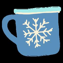 Taza de invierno taza de invierno plana