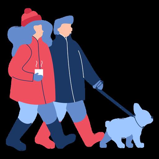 Invierno gente perro plano Transparent PNG