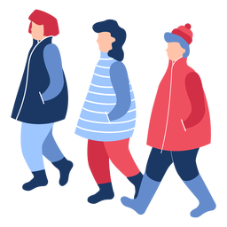Winter people flat